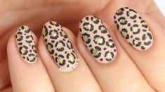 Matte Glitter Cheetah/Leopard Nails