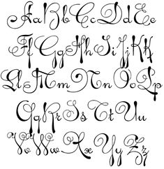 Fancy Script Alphabet Uppercase and Lowercase | Gillian Personalized Stamper