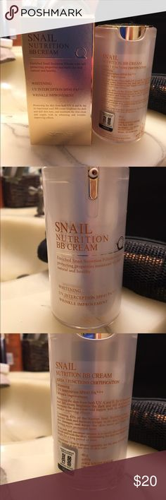 SNAIL nutrition BB cream. 40g SNAIL Nutrition BB Cream. 40g. This cream is for whitening, UV interception SPF45 PA, and wrinkle improvement. SNAIL Nutrition BB cream Accessories