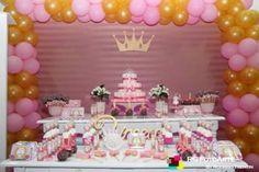decoracao princesa rosa e dourado - Pesquisa Google