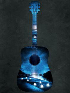 view from my guitar Art Print by Viviana González