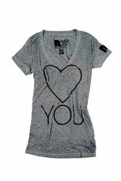 7bb969ca Rebel Yell Heart Skinny V Tee in Heather Gray $69.00 Rebel Yell, Sleep Shirt ,