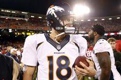 Denver Broncos quarterback Peyton Manning...