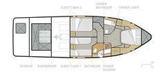 Seafaring 44 Coupé - Jachten - Seafaring Yachts Jon Boat, Boat Dock, Boat Shelf, Model Boat Plans, Guest Cabin, Seafarer, Boat Design, Luxury Yachts, How To Plan