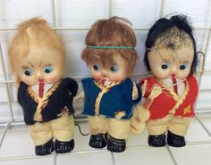 Antique Celluloid Dolls Lot of Three 4 Dolls by Lalecreations