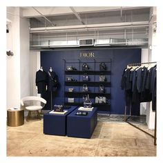 "JEFFREY, Meatpacking District, New York, ""Navy... never looks like it's trying too hard... It's understated cool"", photo by John Galang, pinned by Ton van der Veer Shop Interiors, Retail Shop, Visual Merchandising, Display, York, Navy, Cool Stuff, Shopping, Window Displays"