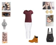 """Evie - Day with Brad and Connor"" by annie-stylesx ❤ liked on Polyvore featuring Olivia Burton, Casetify, Topshop, Object Collectors Item, Timberland, rag & bone and Marc by Marc Jacobs"