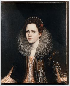 Anonimo , Leoni Ottavio - ambito - sec. XVI/ XVII - Ritratto di gentildonna - insieme