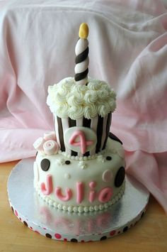 Cake Idea. How perfect is it that the example has her name on it?!