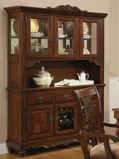 China cabinets curios on pinterest china cabinets for B q dining room cabinets