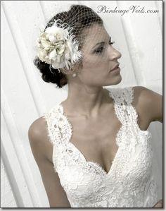 wedding dresses with birdcage veils