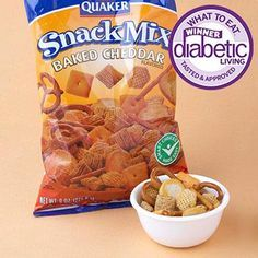 "Best Savory Snack Mix Winner: Quaker Snack Mix, Baked Cheddar (fritolay.com) Why it won: With a snack mix as cheesy and crunchy as this, you no longer have to trick your family into eating healthy. No one will be the wiser. Plus, this mix is an excellent source of iron, which helps your body use oxygen. Taste-tester's quote: ""The crunch is great, and there is good variety in the mix."""