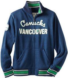 NHL Vancouver Canucks CCM Fleece Track Jacket, Small by Reebok. $44.43