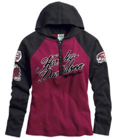 Harley-Davidson® Shirt - Womens Rebel HDMC Hooded Shirt - 96051-14VW