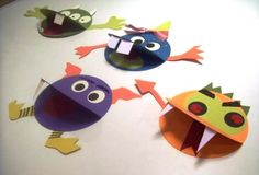 paper monsters kids craft