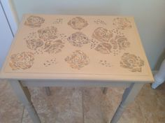 Stencil table make over by BureChic. www.facebook.com/BureChic