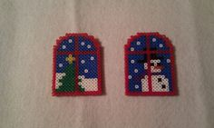 Christmas ornaments hama beads by Flores de Celofán