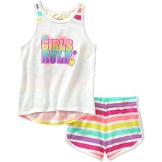 Garanimals Baby Toddler Girl Athletic Tank and Short Outfit Set