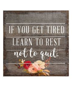 This 'Learn to Rest' Wall Sign is perfect! #zulilyfinds