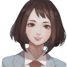 Boku no Hero Academia,Anime,Аниме,Uraraka Ochako,Jiayue Wu Boku No Hero Academia, My Hero Academia Manga, Hero Academia Characters, Anime Characters, Uraraka Cosplay, Best Waifu, How To Draw Hair, Pretty Art, Aesthetic Art