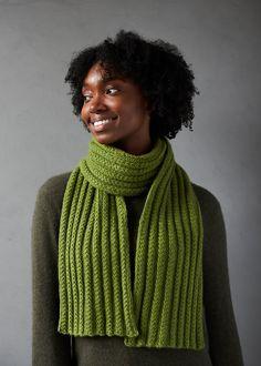 Ravelry: Braided Rib Scarf in Cashmere Tend pattern by Purl Soho Knitting Patterns Free, Free Knitting, Knitting Scarves, Free Pattern, Simple Knitting, Crochet Patterns, Scarf Patterns, Circular Knitting Needles, Stitch Patterns