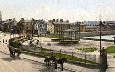 A really old photo of Bangor seafront before they moved the bandstand Bangor Northern Ireland, The Old Days, Belfast, Old Town, Old Photos, Past, Old Things, England, History