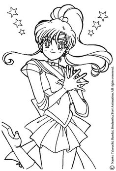 Sailor Jupiter the warrior coloring page. Print this Sailor Jupiter the warrior coloring page out or color in online with our new coloring machine. Sailor Jupiter, Sailor Moons, Sailor Moon Art, Sailor Moon Crystal, Sailor Moon Coloring Pages, Cute Coloring Pages, Coloring Sheets, Coloring Books, Sailor Moon Birthday