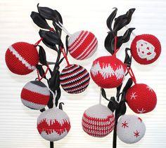 Hilde haakt: Meer kerstballen haken 1st Christmas, Christmas Balls, Christmas Crafts, Free Crochet, Knit Crochet, All Craft, Free Pattern, Starters, November