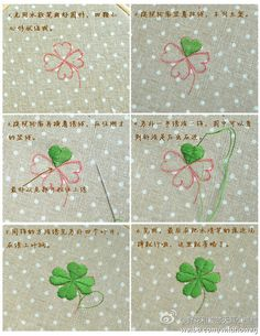 How to embroider an adorable four leaf clover