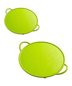 This Green Silicone Splatter Guard by Kuhn Rikon is perfect! #zulilyfinds
