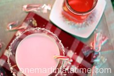 candy cane martini with white chocolate use #pinnacle peppermint bark