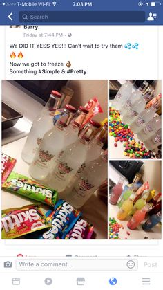 Party drinks House Beautiful je spa house of beauty & wellness Candy Drinks, Liquor Drinks, Cocktail Drinks, Tequila Drinks, Beverages, Disney Cocktails, Mix Drinks, 18th Birthday Party, 21st Birthday Drinks