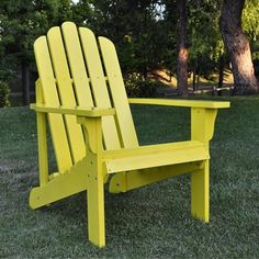 I pinned this Marina Adirondack Chair in Yellow from the Shine Company event at Joss & Main!