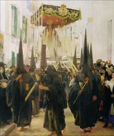 SOROLLA. VISION DE ESPAÑA. SEVILLA: LOS NAZARENOS. 1914.