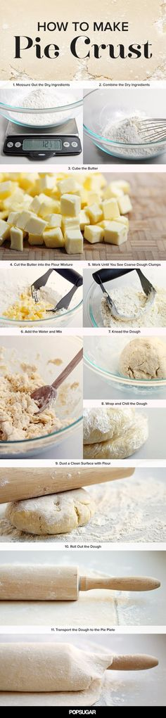 learn to cook how to make pie crust step by step with photos How To Make Pie, Learn To Cook, Food To Make, Just Desserts, Delicious Desserts, Yummy Food, Pie Dessert, Dessert Recipes, Pie Crust Recipes