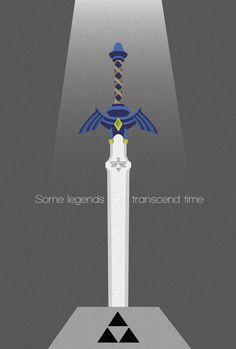 Master Sword | Video Game Posters by Robert Pfaff, via Behance