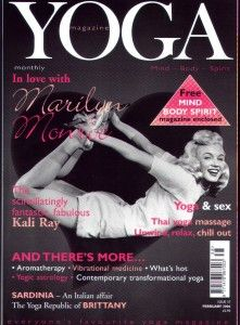 marilyn monroe yoga magazine cover =)