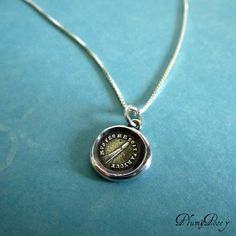 Comet Wax Seal Necklace - My fire follows me everywhere - Comet Jewelry, Comet Necklace