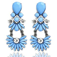 >> Click to Buy << LNRRABC Women Earrings Exquisite Upmarket With Crystal Blue Zircon Dress Accessories Dangle Earrings Fashion Jewelry #Affiliate