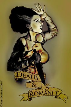 Design i airbrushed for my tattoo going on my sleeve its of the bride of frankenstein Bride Tattoo Design Horror Icons, Horror Art, Beetlejuice, James Whale, Brides With Tattoos, Zombie Art, Frankenstein's Monster, Classic Horror Movies, Bride Of Frankenstein