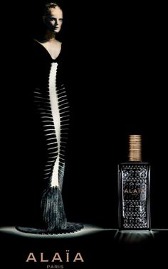 Alaia Fragrance campaign with Guinevere Van Seenus