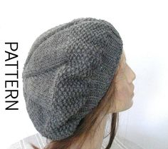 Beret  Knitting Pattern  Instant download Knitting by Ebruk
