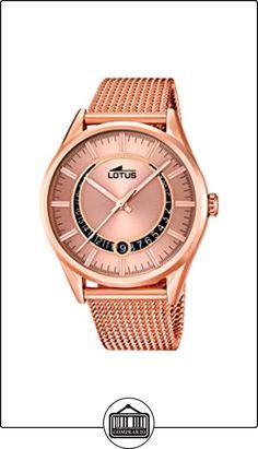 72031888305b Lotus - Reloj de cuarzo para hombre con esfera analógica de color negro y  plateado acero