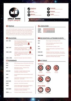 Curriculum Vitae by Murat Eren, via Behance