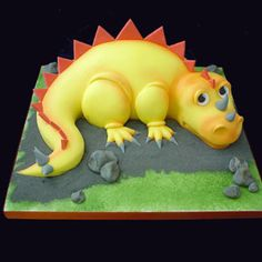 dino cake, but he def needs spots and some greens to munch on