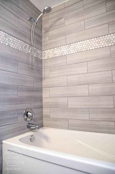 29 Popular Bathroom Shower Tile Design Ideas And Makeover. If you are looking for Bathroom Shower Tile Design Ideas And Makeover, You come to the right place. Here are the Bathroom Shower Tile Design. Home Depot Bathroom Tile, Diy Bathroom Remodel, Bathroom Interior, Modern Bathroom, Master Bathroom, Bathroom Remodeling, Bathroom Makeovers, Condo Bathroom, Bathroom Cabinets