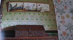 William Morris wallpaper in Beatrix Potter's Hilltop Farm.