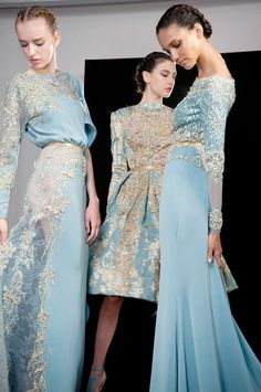 perfect nod to my winter wedding color palette circa 2004 Elie Saab