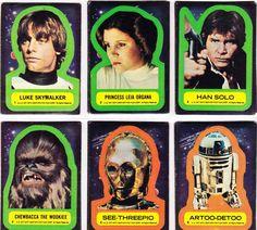 Vintage Star Wars Stickers