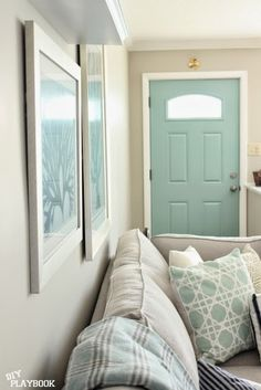 Don't just paint the outside of your front door...paint the interior too! Read this post to find the perfect shade to show off your personality.